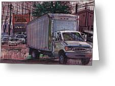 Delivery Truck 2 Greeting Card by Donald Maier