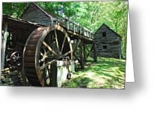 Dellinger Mill Greeting Card by Alan Lenk