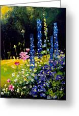 Delphiniums Greeting Card by Pol Ledent