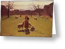 Deluded Hopes Greeting Card by Giuseppe Pellizza da Volpedo