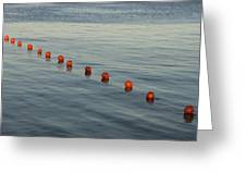 Denmark Red Safety Balls Floating Greeting Card by Keenpress