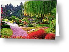 Denver Botanical Gardens 1 Greeting Card by Steve Ohlsen