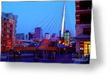 Denverscape Iv Greeting Card by Christine Zipps