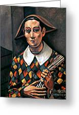 Derain: Harlequin, 1919 Greeting Card by Granger