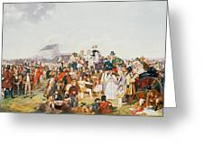 Derby Day Greeting Card by William Powell Frith
