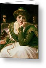 Desdemona Greeting Card by Frederic Leighton
