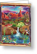Desert Oasis Greeting Card by Harriet Peck Taylor