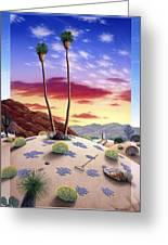 Desert Sunrise Greeting Card by Snake Jagger