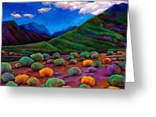 Desert Valley Greeting Card by Johnathan Harris