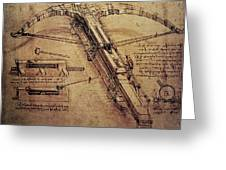 Design for a Giant Crossbow Greeting Card by Leonardo Da Vinci