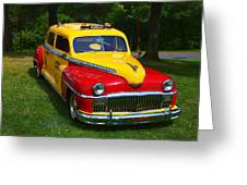 Desoto Skyview Taxi Greeting Card by Garry Gay