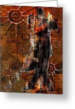 Destiny Tangos Con Chance En El Salon De Eternidad Greeting Card by Kenneth Armand Johnson