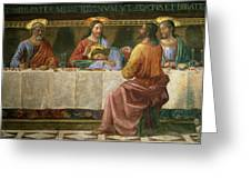 Detail From The Last Supper Greeting Card by Domenico Ghirlandaio
