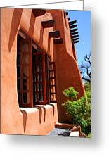 Detail Of A Pueblo Style Architecture In Santa Fe Greeting Card by Susanne Van Hulst