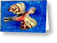 Detail Of Bird People Flying Chaffinch Greeting Card by Sushila Burgess