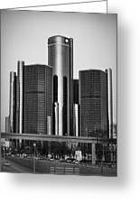 Detroit Renaissance Center General Motors Gm World Headquarters Greeting Card by Ryan Dean