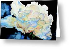 Dew Drops On Peony Greeting Card by Hanne Lore Koehler