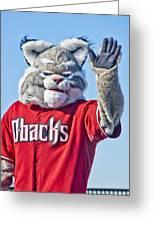 Diamondbacks Mascot Baxter Greeting Card by Jon Berghoff