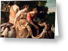 Diana and her Companions Greeting Card by Jan Vermeer