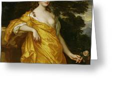 Diana Kirke-Later Countess of Oxford Greeting Card by Sir Peter Lely