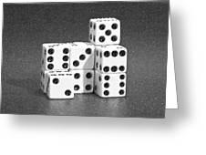 Dice Cubes IIi Greeting Card by Tom Mc Nemar