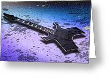 Digital-art E-guitar II Greeting Card by Melanie Viola