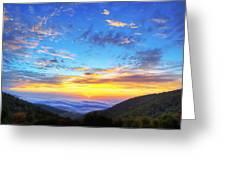 Digital Liquid - Good Morning Virginia Greeting Card by Metro DC Photography