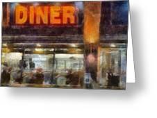 Diner Greeting Card by Francesa Miller