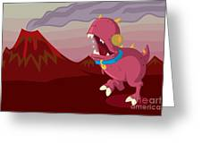 Dino Greeting Card by Kyle Harper
