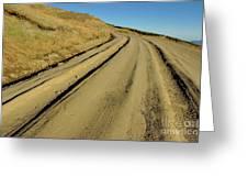 Dirt Road Winding Greeting Card by Sami Sarkis