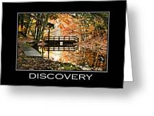 Discovery Inspirational Motivational Poster Art Greeting Card by Christina Rollo