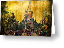 Disney World Greeting Card by Svetlana Sewell