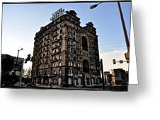 Divine Lorraine Hotel Greeting Card by Bill Cannon