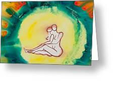 Divine Love Series No. 2086 Greeting Card by Ilisa  Millermoon