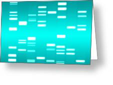 Dna Cyan Greeting Card by Michael Tompsett