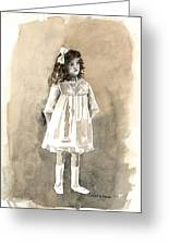 Do I Have To Wear A Dress Greeting Card by Arline Wagner