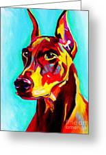 Doberman - Prince Greeting Card by Alicia VanNoy Call