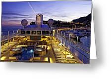 Docked In Monte Carlo Greeting Card by Janet Fikar