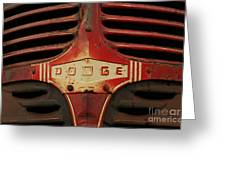 Dodge 41 Grill Greeting Card by Steve Augustin