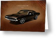 Dodge Challenger Rt Greeting Card by Mark Rogan