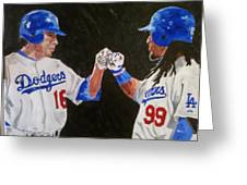 Dodgers Duo Greeting Card by Daryl Williams Jr