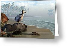 Dodo Afternoon Greeting Card by Daniel Eskridge