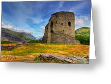 Dolbadarn Castle  Greeting Card by Adrian Evans