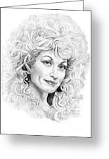 Dolly Parton Greeting Card by Murphy Elliott