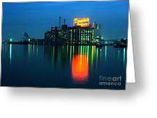Domino Sugars Baltimore Maryland 1984 Greeting Card by Wayne Higgs
