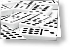 Dominoes I Greeting Card by Tom Mc Nemar