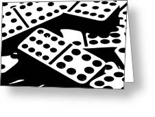 Dominoes Iv Greeting Card by Tom Mc Nemar