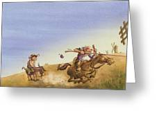 Don Quixote Greeting Card by Andy Catling