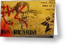 Don-ricardo Greeting Card by Skip Hunt