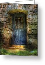 Door - A Rather Old Door Leading To Somewhere Greeting Card by Mike Savad